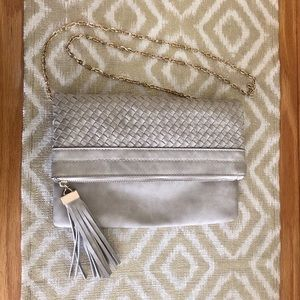 Urban Expressions Gray Chained Crossbody Purse